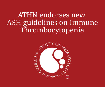 ATHN endorses new ASH guidelines on Immune Thrombocytopenia